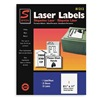 Simon By Sjpaper SL81212 Laser Label, 8 1/2X11In, PK 25, White