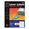 Simon By Sjpaper SL12584 Laser Label, 1x2 5/8In, PK 25, White