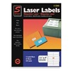 Simon By Sjpaper SL11341 Laser Label, 1 1/3x4In, PK25, White