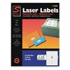 Simon By Sjpaper SL11441 Laser Label, 1x4In, PK 25, White
