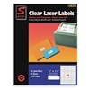 Simon By Sjpaper SL15025 Laser Label, 1/2x1 3/4In, PK 25, Clear