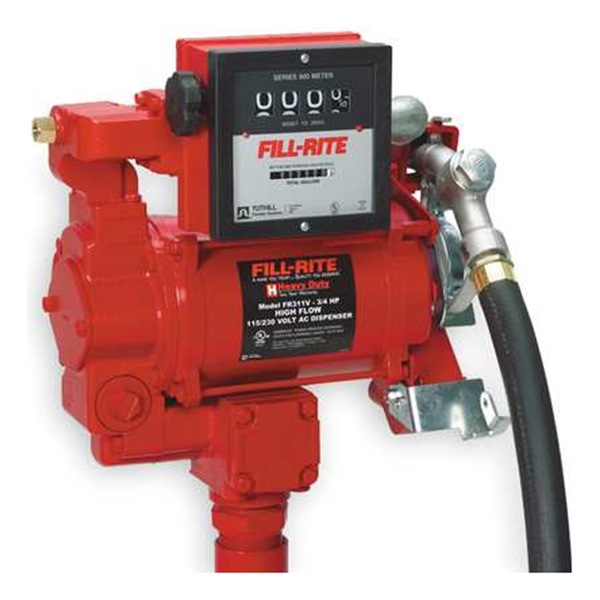 Fill Rite FR311V Fuel Transfer Pump, 3/4 HP, Up to 35 GPM
