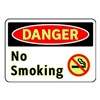Brady 102452 Danger No Smoking Sign, 7 x 10In, ENG, SURF