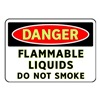 Brady 102440 Danger No Smoking Sign, 7 x 10In, ENG, Text
