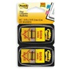 Post-IT 680-SH2 Sticky Flags, 1 x 1-3/4 In., Yellow, PK2