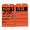 Approved Vendor 2RMU8 Rpr Ord Tag, 7 x 4 In, Bk/R, ISO 9001, PK10