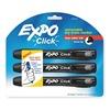 Expo 1741918 Dry Erase Marker, Retrct, Blk, PK3