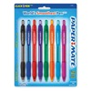 Paper Mate 54549 Ballpoint Pen, Retractable, Med, Asst., PK 8