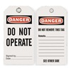 Approved Vendor 2RMW3 Danger Tag, 5-3/4 x 3 In, Do Not Opr, PK25