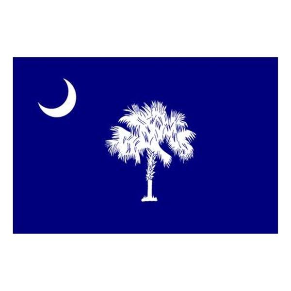 Nylglo 144860 South Carolina State Flag, 3x5 Ft