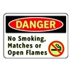Brady 102451 Danger No Smoking Sign, 7 x 10In, ENG, SURF