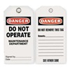 Approved Vendor 2RMW4 Danger Tag, 5-3/4 x 3 In, ISO 9001, PK25
