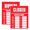 Cosco 98072 Notice Sign, 19 x 15In, R/WHT, Vinyl, ENG