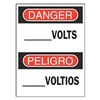 Brady 90792 Danger Sign, 14 x 10In, R and BK/WHT, Text