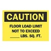Brady 85580 Caution Sign, 7 x 10In, BK/YEL, ENG, Text
