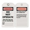 Approved Vendor 2RMX3 Danger Tag, 5-3/4 x 3 In, ISO 9001, PK25