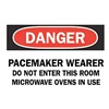 Brady 25269 Danger Radiation Sign, 10 x 14In, ENG, Text