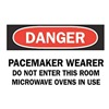 Brady 88726 Danger Radiation Sign, 10 x 14In, ENG, Text