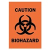 Brady 89164 Caution Biohazard Sign, 14 x 10In, BK/ORN