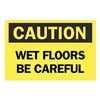 Brady 22776 Caution Sign, 7 x 10In, BK/YEL, ENG, Text