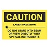 Brady 84987 Caution Laser Sign, 7 x 10In, BK/YEL, ENG
