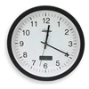 Approved Vendor 2CJA4 Clock w/Digital Date, Rnd, Anlg, 13in, Blk