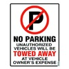 Parking Sign, 19 x 15In, R and BK/WHT