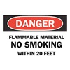 Brady 88360 Danger No Smoking Sign, 10 x 14In, ENG