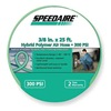 Speedaire 2VDF5 Air Hose, 3/8 IDx25Ft, 1/4 MNPT, Polymer