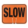 Cortina 03-550-S Traffic Cone Sign, Blk/Orng, Slow Traffic