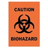 Brady 25781 Caution Biohazard Sign, 14 x 10In, BK/ORN