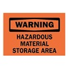 Brady 85547 Warning Sign, 7 x 10In, BK/ORN, ENG, Text