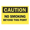 Brady 88348 Caution No Smoking Sign, 10 x 14In, BK/YEL