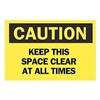 Brady 85592 Caution Sign, 7 x 10In, BK/YEL, ENG, Text