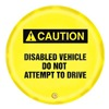 Accuform Signs KDD728 Caution Sign, 20 x 20In, BK/YEL, ENG, SURF