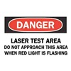 Brady 25263 Danger Radiation Sign, 10 x 14In, ENG, Text