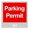 Brady 96237 Parking Permits, Windshield, Red, PK 100