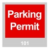 Brady 96234 Parking Permits, Windshield, Red, PK 100