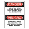 Brady 90543 Danger Sign, 14 x 10In, R and BK/WHT, Text