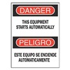 Brady 90795 Danger Sign, 14 x 10In, R and BK/WHT, Text