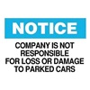 Brady 25824 Instruction Sign, 10 x 14In, BK and BL/WHT