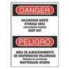 Brady 90542 Danger Sign, 14 x 10In, R and BK/WHT, Text