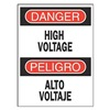 Brady 90797 Danger Sign, 14 x 10In, R and BK/WHT, Text