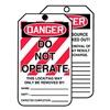 Accuform Signs TAR125 Danger Tag, 6-1/4 x 3 In, Cardstock, PK250