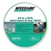 Speedaire 2VDF7 Air Hose, 1/2 IDx25Ft, 3/8 MNPT, Polymer