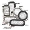 Maxxima AX44WF - KIT Backup Light, LED, Wht, Flange, Rnd, 4 In Dia