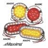 Maxxima 3JYD2 Back-Up/Turn Light, LED, Ambr/Wh, 5-3/4 Dia