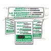 Accuform Signs SBMSK434 Quality Control Sign, 28 x 20In, BW/GRN, AL