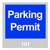 Brady 96230 Parking Permits, Windshield, Blue, PK 100