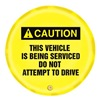 Accuform Signs KDD716 Caution Sign, 16 x 16In, BK/YEL, ENG, SURF